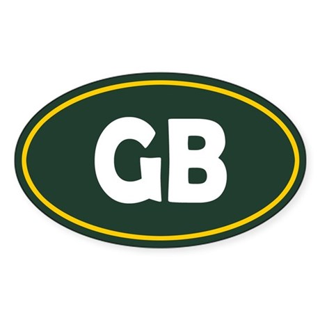 Green Bay Oval Sticker