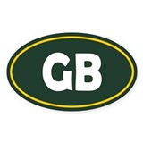 Green Bay Oval Decal