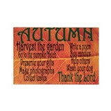 AUTUMN Rectangle Magnet (10 p