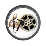Reel and Clef Film Music Design2 Wall Clock