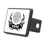 Fire Chief Tattoo Rectangular Hitch Cover
