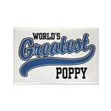 World's Greatest Poppy Rectangle Magnet