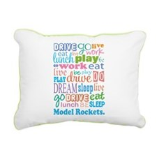 Model Rocket Rectangular Canvas Pillow