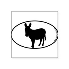 Donkey SILHOUETTE Oval Sticker