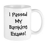 Banking Exams Passed Success Small Mug