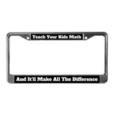 Teach Your Kids Math License Plate Frame