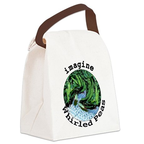 Imagine Whirled Peas Canvas Lunch Bag
