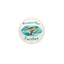 Sea Turtle Mini Button (10 pack)