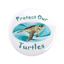 "Sea Turtle 3.5"" Button (100 pack)"