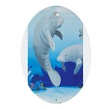 Manatee Ornament (Oval)