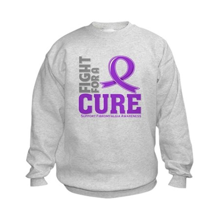 Fibromyalgia Fight For A Cure Kids Sweatshirt