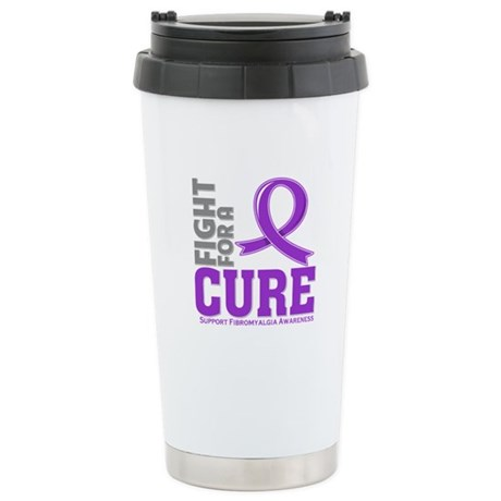 Fibromyalgia Fight For A Cure Ceramic Travel Mug