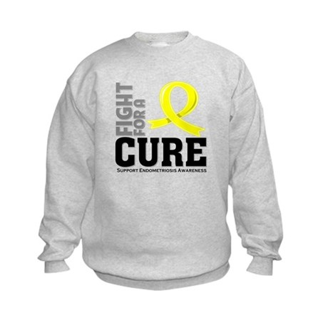Endometriosis Fight For A Cure Kids Sweatshirt