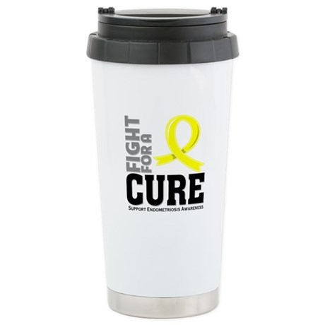 Endometriosis Fight For A Cure Ceramic Travel Mug