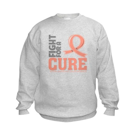 Endometrial Cancer Fight Kids Sweatshirt