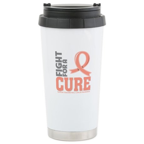Endometrial Cancer Fight Ceramic Travel Mug