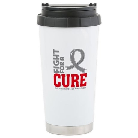 Diabetes Fight For A Cure Ceramic Travel Mug
