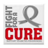 Diabetes Fight For A Cure Tile Coaster