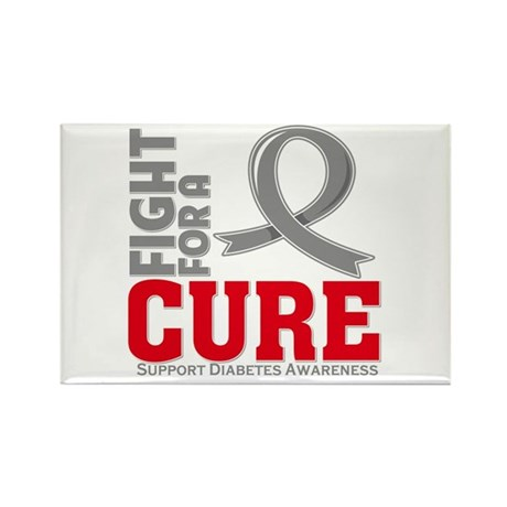 Diabetes Fight For A Cure Rectangle Magnet