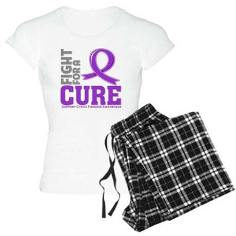 Cystic Fibrosis Fight For A Cure Women's Light Paj