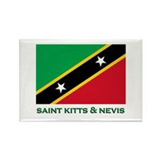 Saint Kitts & Nevis Flag Merchandise Rectangle Mag