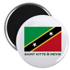 Saint Kitts & Nevis Flag Merchandise Magnet