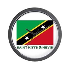 Saint Kitts & Nevis Flag Merchandise Wall Clock
