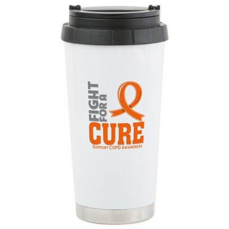 COPD Fight For A Cure Ceramic Travel Mug