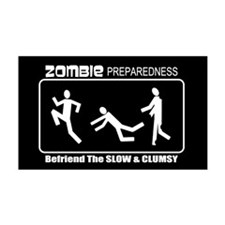 Zombie Preparedness Befriend Slow Clumsy Wall Decal
