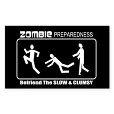 Zombie Preparedness Befriend Slow Clumsy Decal