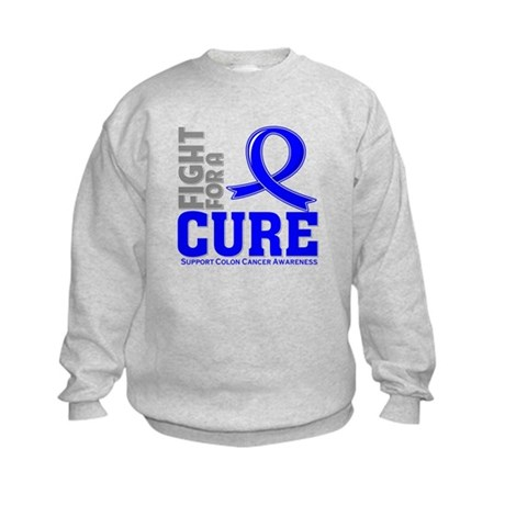 Colon Cancer Fight For A Cure Kids Sweatshirt