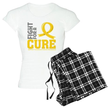 Childhood Cancer Fight Women's Light Pajamas