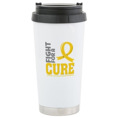 Childhood Cancer Fight Ceramic Travel Mug