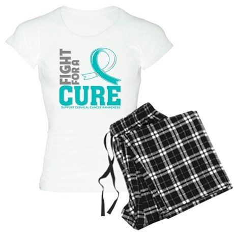 Cervical Cancer Fight For A Cure Women's Light Paj