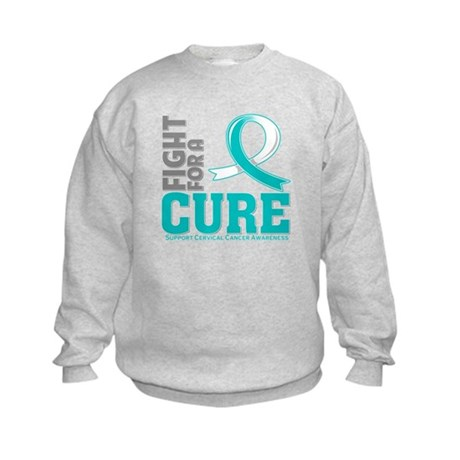 Cervical Cancer Fight For A Cure Kids Sweatshirt