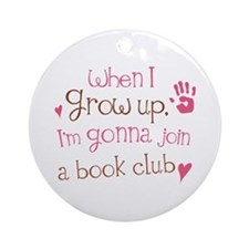 Kids Book Club Ornament (Round)