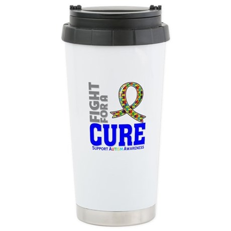 Autism Fight For A Cure Ceramic Travel Mug