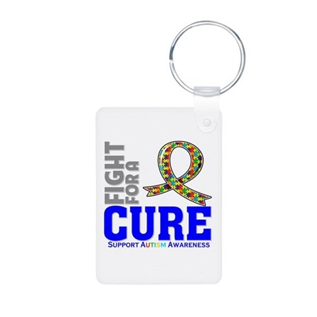 Autism Fight For A Cure Aluminum Photo Keychain