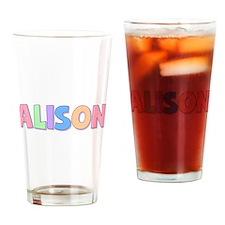 Alison Rainbow Pastel Drinking Glass