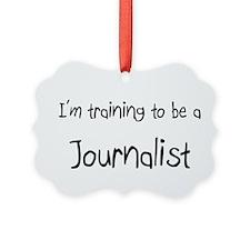 Cute Journalist Ornament