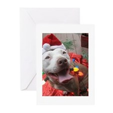 Unique Pitbull christmas Greeting Cards (Pk of 20)
