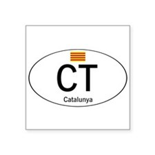 "Car code Catalonia Square Sticker 3"" x 3"""