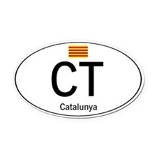Car code Catalonia Oval Car Magnet