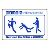 Zombie Preparedness Befriend Slow Clumsy Banner