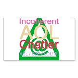 Incoherent AOL Chat Sticker(Rectangular)
