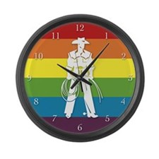 The Gay Cowboy Large Wall Clock