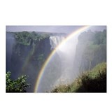 Victoria Falls with rainbow in foreground, Zimbabw