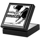 Nose work search border collie Keepsake Box