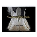 Feathered Gold Gypsy Horse Monthly Calendar #1