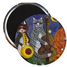 Jazz Cats at Night Magnet